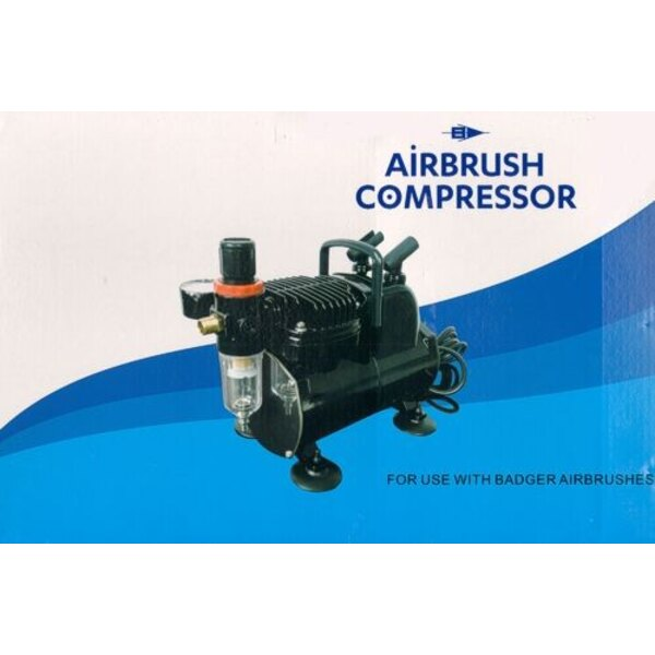 Compresseur pour aérographe avec fonction Auto Start /Auto Stop, gauge de pression d'air, pression ajustable, filtre à air, piè