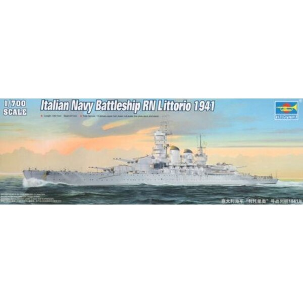 Cuirassé de la marine italienne RN Littorio 1941