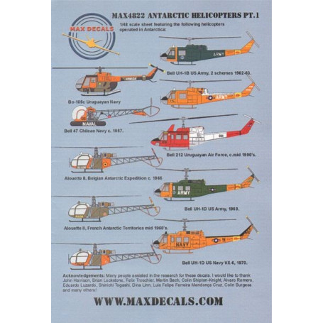 Antarctic Helicopters Part 1 ( 10) Bell UH-1D; UH-1D 59740 US Army 1969; 659740 JD/9 US Navy; 212545 or 03483 both US Army Opera