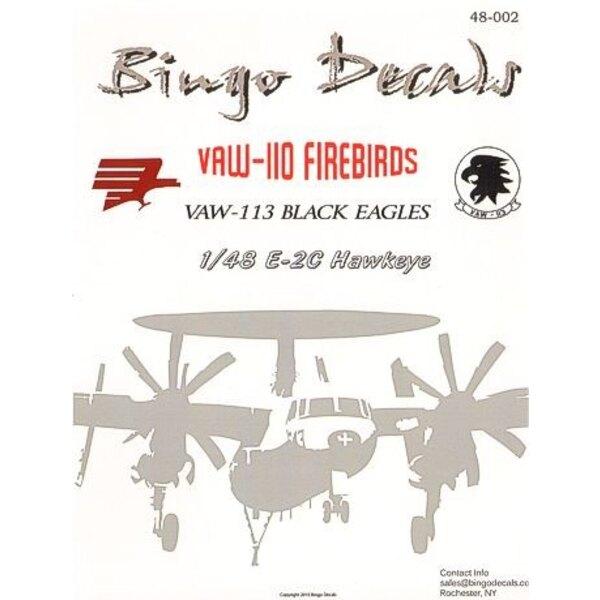Grumman E-2C Hawkeye (6) 163537 NJ/350 1990 Grey/White; 164485 NJ/622 1994 overall Grey. all VAW-110 Firebirds; E-2C Hawkeye 164