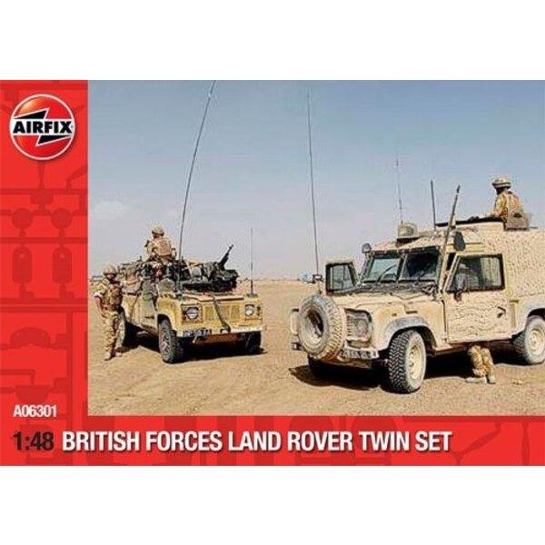 Land Rover Forces britanniques TWIN SET. Le pack contient la Land Rover 'Snatch' et Land Rover Wolk WIMIK.