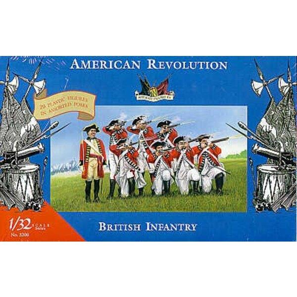 Infanterie britannique - Guerre d'indépendance américaine - 1/32 - Accurate Figures CF3200