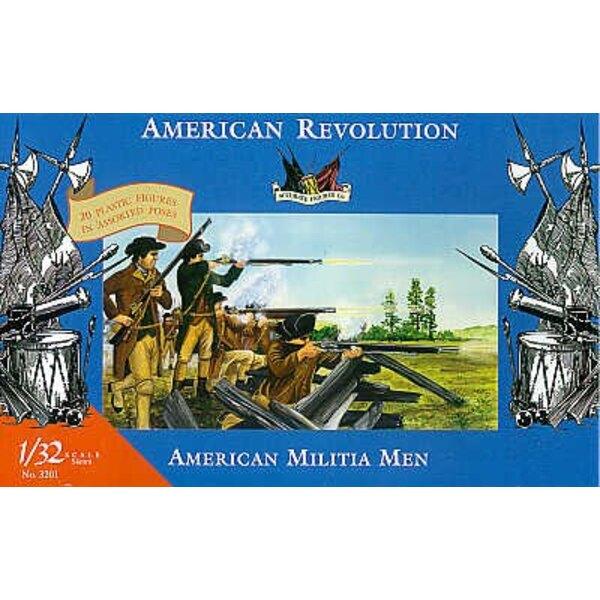 Guerre d'indépendance américaine - Militiens américains - 1/32 - Accurate Figures CF3201