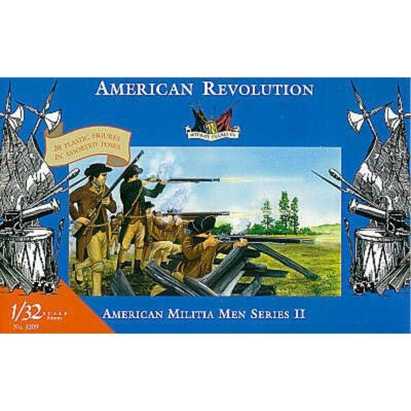 miliciens américain - guerre d'indépendance américaine - 1/32 - Accurate Figures CF3209