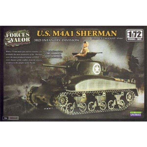 M4A1 Sherman - ATTENTION : c'est une maquette à monter et peindre et PAS une miniature déjà montée