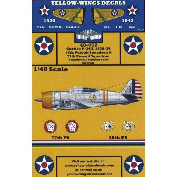 Décal USAAC Curtiss P-36/P-36A