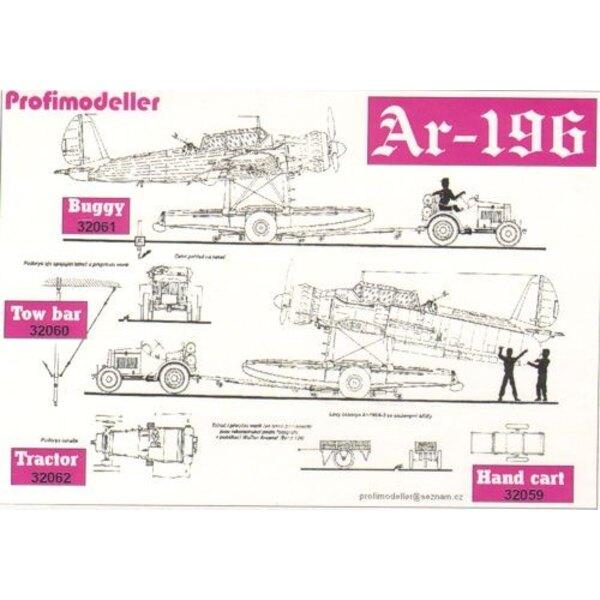 Arado Ar 196 avions chariot 32062P (conçu pour être utilisé avec Profimodeller et des kits Revell)