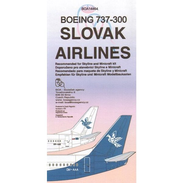 Boeing 737-300 SLOVAK Airlines OM-AAA//E