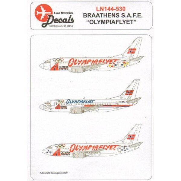 Boeing 737-500 BRATHENS SAFE LN-BRJ winter Olympic Games three special ´Olympiaflyet liveries
