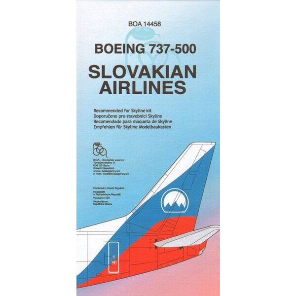 Boeing 737-500 SLOVAKIAN AIRLINES OM-BTS