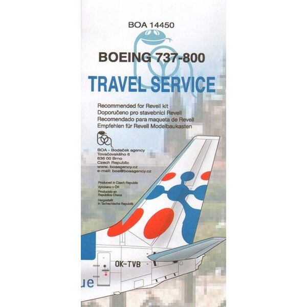 Boeing 737-800 TRAVEL SERVICE Fly from Prague OK-TVB designed to be used with Revell kits)