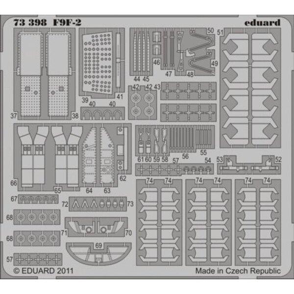 Grumman F9F-2 Panther (auto-adhésif) (conçu pour être utilisé avec les kits Hobby Boss)