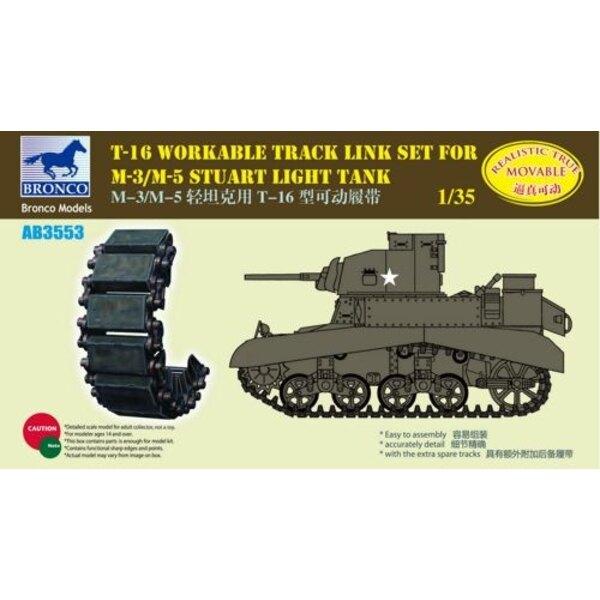 T-16 : set de chenilles fonctionnelles M3/M5 Stuart