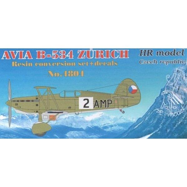 Avia B-534 Zurich Conversion ensemble + de décalcomanies