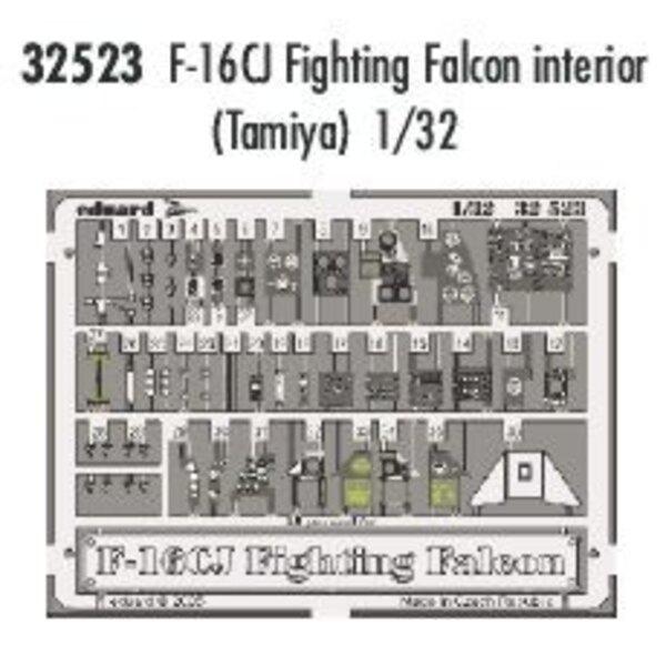 intérieur de Lockheed Martin F-16CJ Fighting Falcon - - pièces pré-peintes en couleur (pour maquettes Tamiya)