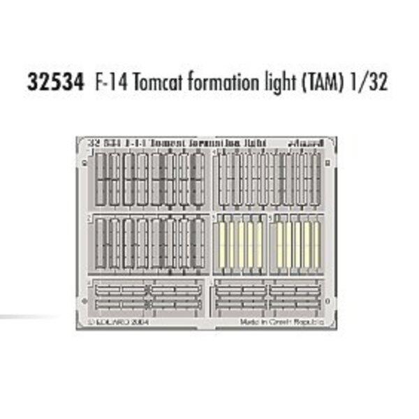 lumières de formation de Grumman F-14 Tomcat - pièces pré-peintes en couleur (pour maquettes Tamiya)