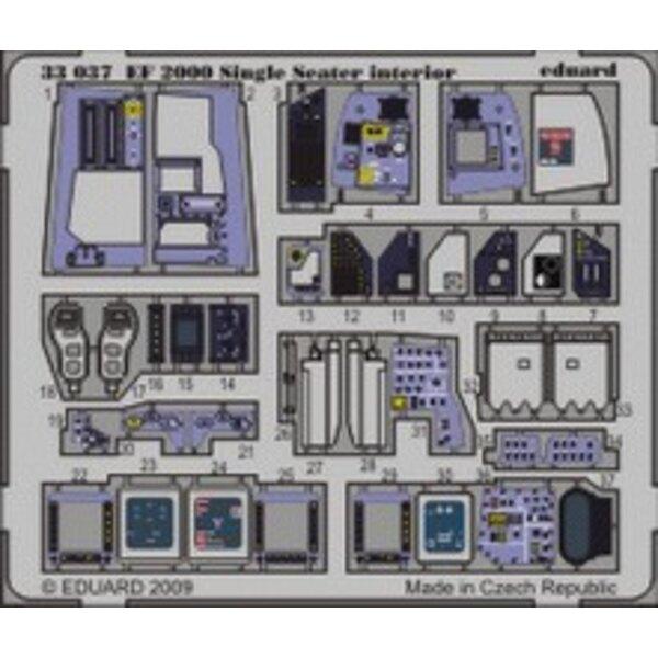 intérieur de Eurofighter EF-2000 Typhoon monoplace (auto-adhésif) (pour maquettes Trumpeter)