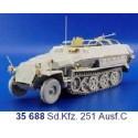 sd.kfz.251 ausf. c (pour maquette dragon dn6187)