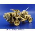 sas willys jeep (pour maquettes tamiya ta35033)