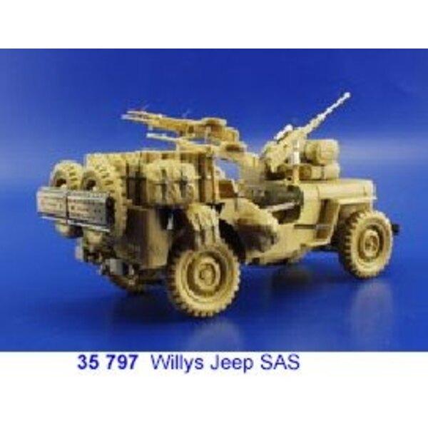 SAS Willys Jeep (diseñado para ser ensamblado con maquetas de Tamiya TA35033)