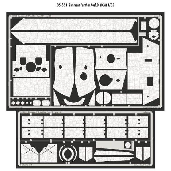 Zimmerit Panther Ausf.D (diseñado para ser ensamblado con maquetas de ICM)