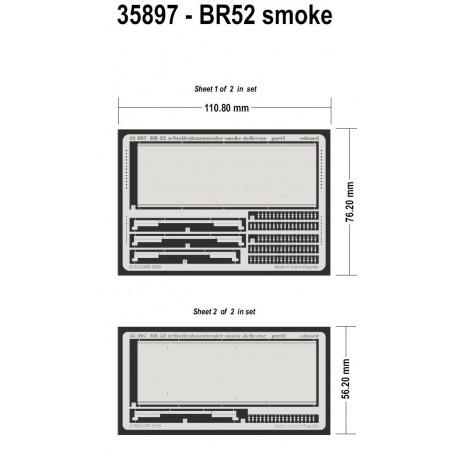 Déflecteur de fumée de BR-52 Kriegslocomotive (pour maquettes Trumpeter)