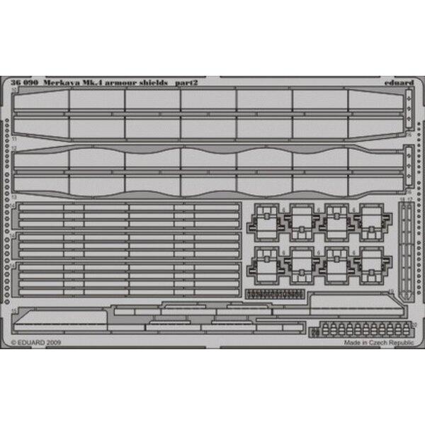 boucliers de blindage de Merkava Mk. IV (pour maquettes Academy)