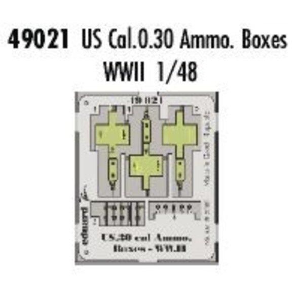 caisses de munitions US Cal.0.30 de la 2ème GM