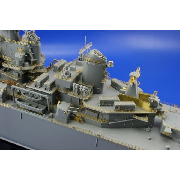 USS New Jersey (designed to be assembled with model kits from Tamiya)