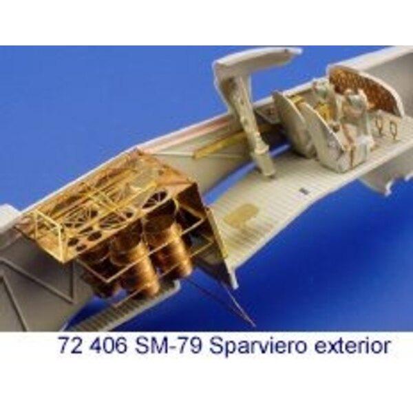 extérieur de Savoia Marchetti SM.79 Sparviero (pour les maquettes Italeri)