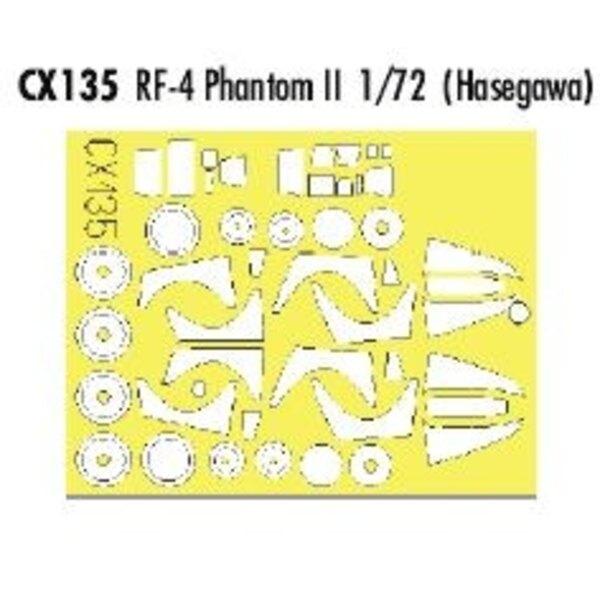 RF-4 Phantom (pour maquettes Hasegawa) (fait à partir de bande jaune de Kabuki japonais)
