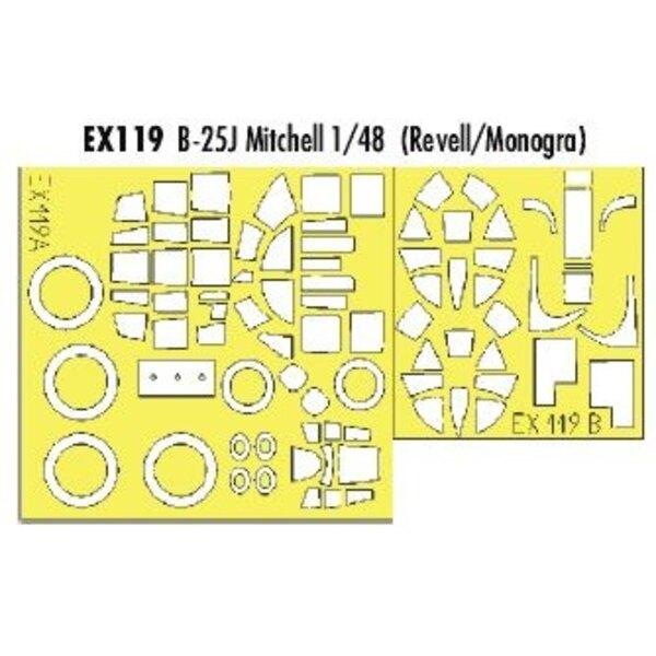North American B-25J Mitchell (pour maquettes Monogram et Revell) (fait à partir de bande jaune de Kabuki japonais)
