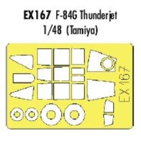 Republic F-84G Thunderjet (pour maquettes Tamiya) (fait à partir de bande jaune de Kabuki japonais)
