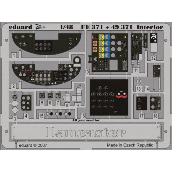 intérieur d'Avro Lancaster Mk.I/III (pour maquettes Tamiya) Ce coffret Zoom est une version simplifiée des jeux standard et incl