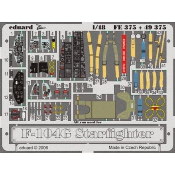 Lockheed F-104G Starfighter (auto-adhésif) - pièces pré-peintes en couleur (pour maquettes Hasegawa) Ce coffret Zoom est une ver