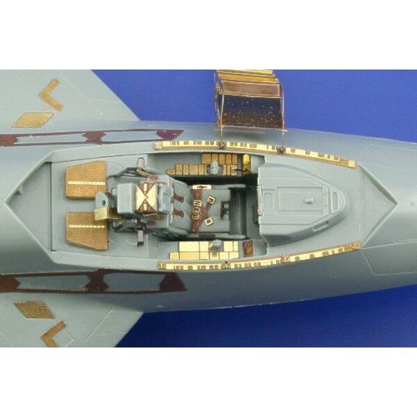 intérieur de Lockheed Martin F-22 Raptor (auto-adhésif) - pièces pré-peintes en couleur (pour maquettes Academy)