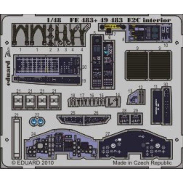 intérieur de Grumman Hawkeye E-2C (auto-adhésif) (pour maquettes Kinetic)