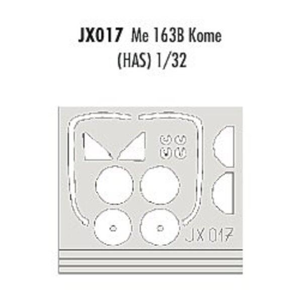 Messerschmitt Me 163B Komet (pour maquettes Hasegawa) (fait à partir de bande jaune de Kabuki japonais)