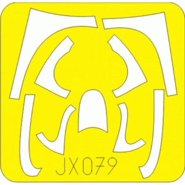 Grumman F8F Bearcat (pour maquettes Trumpeter) (fait à partir de bande jaune de Kabuki japonais) (Grumman F8F Bearcat Grumman F8