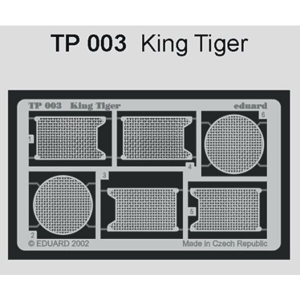 King Tiger grills (designed to be assembled with model kits from Tamiya)