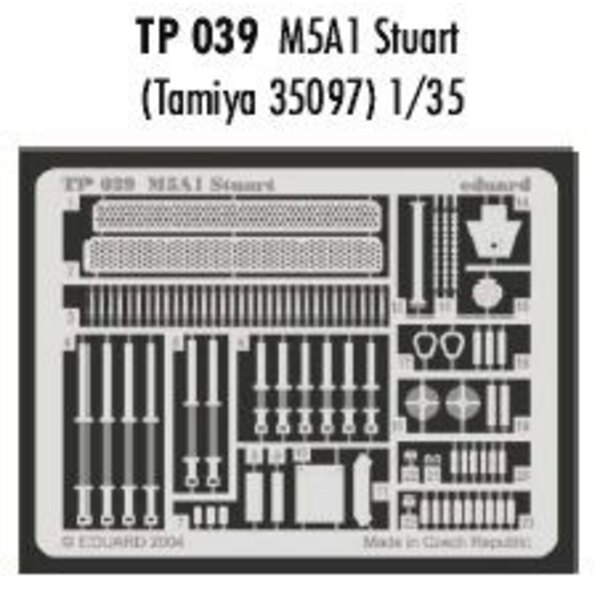M5A1 Stuart (pour maquettes Tamiya TA35097)