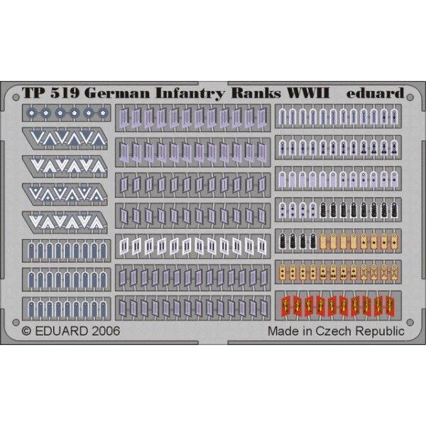 Grades d'infanterie allemands de la 2ème GM