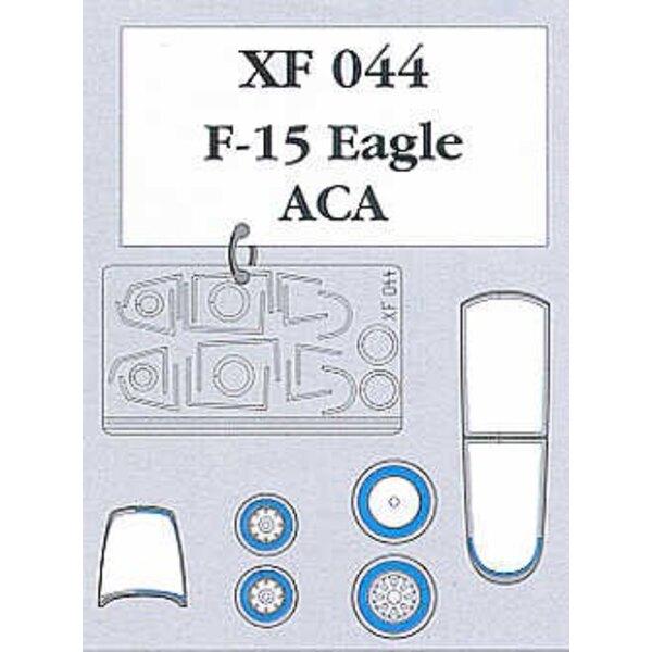 verrière et roues de McDonnell Douglas F-15C Eagle (pour maquettes Academy)