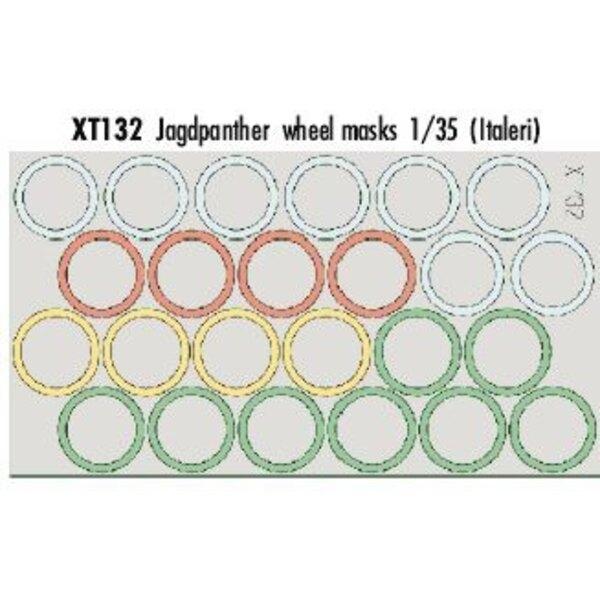 masques de roue de Jagdpanther (pour les maquettes Italeri)