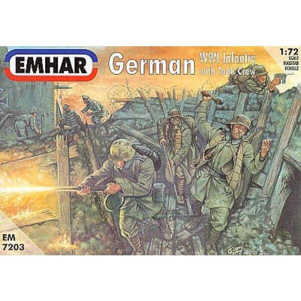 Infanterie Allemande de la 1ère GM et Équipage de Char