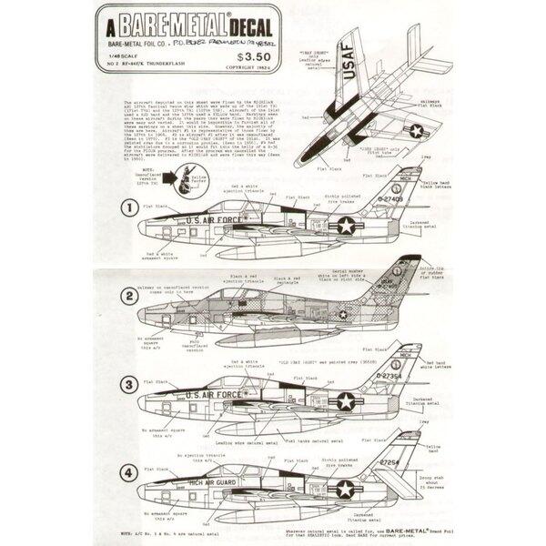 Republic RF-84F/K Thunderflash (1) 127 TRW Michigan ANG. 27409 27 or 27254 FICON