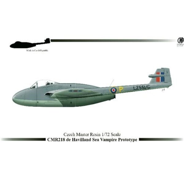 de Havilland Sea Vampire Prototype LZ551/G avec pièces photodécoupées et pochoir