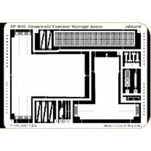 boîtes de stockage de Cromwell/Centaur (pour maquettes Tamiya)