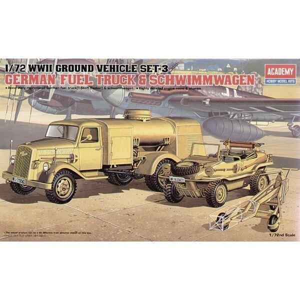 Camion ravitailleur allemand de 2ème GM & Schwimwagen
