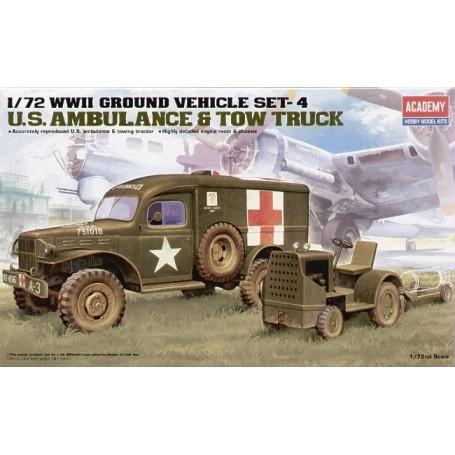 Ambulance US & tracteur 2ème GM